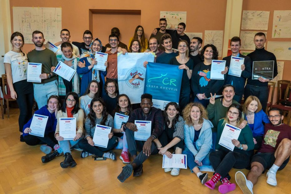 equal and united, group of young people, erasmus+